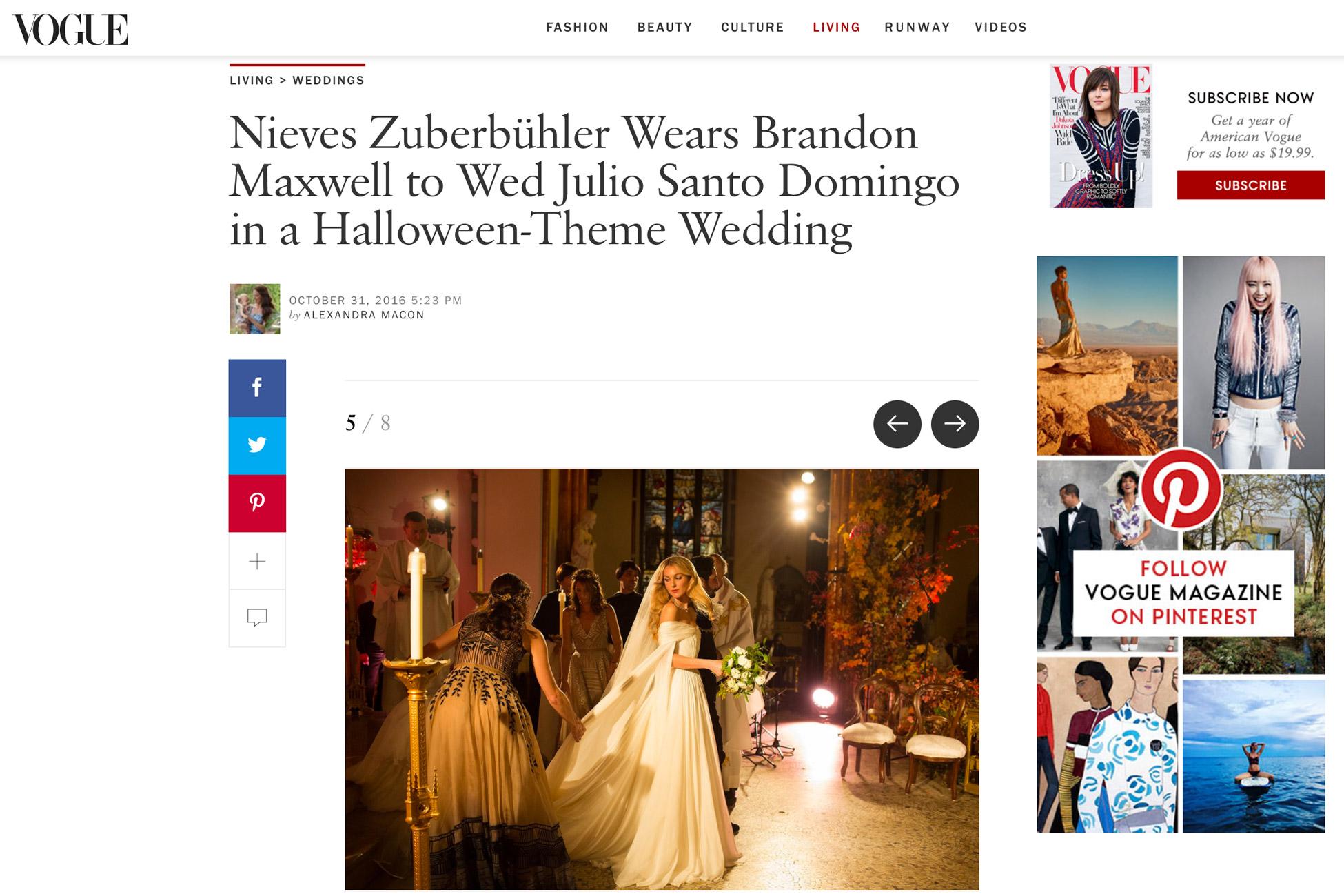 NYC Wedding Featured in Vogue